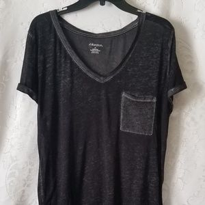Xhilaration Black Burnout Top Size XL